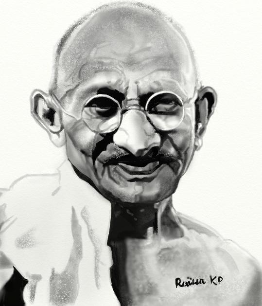 Mahatma Gandhi por RaissaKP